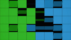Mosaic  blue red green background,  loop Stock Footage