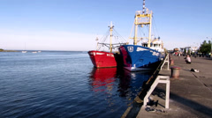 Wexford Harbour at end of day Stock Footage