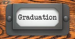 Graduation - Concept on Label Holder. - stock illustration