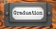Stock Illustration of Graduation - Concept on Label Holder.