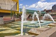 Stock Photo of downtown fountain tacoma washington.