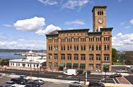 Stock Photo of clock tower building tacoma washington.