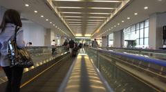 Narita airport moving walkway Stock Footage