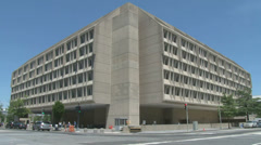 HHS Headquarters in DC Stock Footage