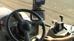 GPS controlled planter Stock Footage
