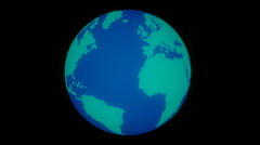 Earth rotation loop, with alpha channel Stock Footage