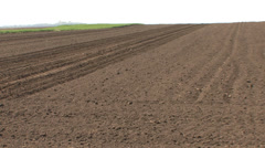 Ploughland waiting cultivation Stock Footage