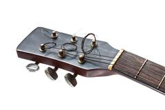 close up of guitar headstock - stock photo