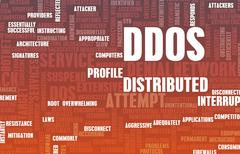 Ddos distributed denial of service attack Stock Illustration