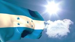Honduran national flag waving Stock Footage