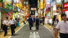 1080 - PEOPLE IN SHINJUKU, TOKYO, JAPAN Stock Footage