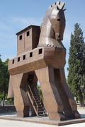 Trojan horse replica Stock Photos