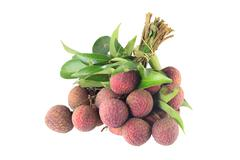 lychee tropical fruit - stock photo