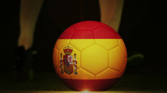 Football montage advertisement for spain Stock Footage