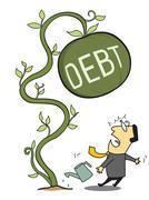 Big debt Stock Illustration