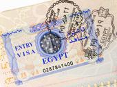 Stock Photo of entry visa