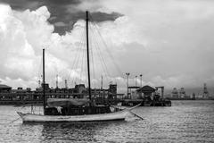 The old yacht. Stock Photos