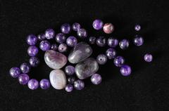 Amulet amethyst stone Stock Photos
