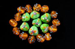 Murano glass stones Stock Photos