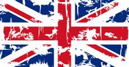 Stock Illustration of British grunge flag. Vector illustration