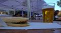 Street cafe on fair by Sforzesco castle in Milan, Italy. Footage