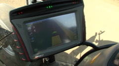GPS control in planting and cultivation - stock footage