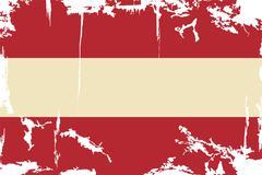 Austrian grunge flag. Vector illustration. Stock Illustration