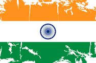 Stock Illustration of Indian grunge flag. Vector illustration