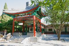 chinese ancient pavilion - stock photo