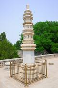 Buddhist adornment tower Stock Photos