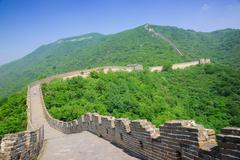mutianyu great wall in china - stock photo