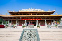 hall of great achievements in confucian temple - stock photo