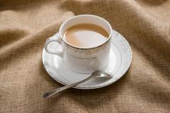 the teatime and leisure time - stock photo