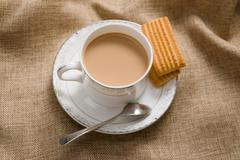 Stock Photo of the teatime and leisure time