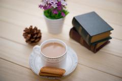 The teatime and leisure time Stock Photos