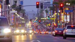 4K. Night traffic on Hollywood Boulevard in Los Angeles. Stock Footage