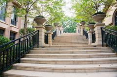 Steps in residential district Stock Photos