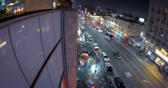People crowd walking on Hollywood Boulevard Walk of Fame. Cinema 4K UHD. Stock Footage