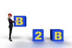 B2b concept Stock Illustration