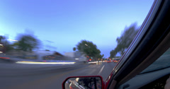 POV driving Los Angeles Santa Monica Blvd West Hollywood. 4K timelapse. - stock footage