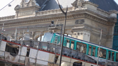 Paris Quay 4 train 2 Stock Footage