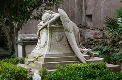 Angel of Grief, Rome non-catholic Cemetery Stock Photos