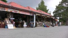 Market shop precinct in Troodos Stock Footage