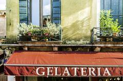 italian ice cream shop - stock photo