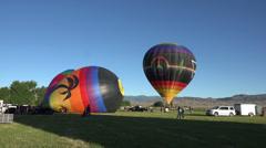 Hot Air Balloon takeoff rural festival HD 035 Stock Footage