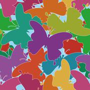 Seamless background, butterflies Stock Illustration