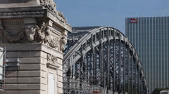 Paris Quay 4 train 5 Stock Footage