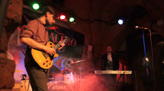 "Polish  ""Maze of sound""  rock band Stock Footage"