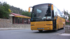 Tour bus ready to depart in Cyprus Stock Footage