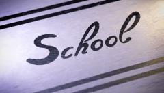 """""""School"""". looping. Stock Footage"""